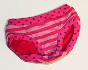 Childrens Pink Stripes and Dots Undies - Custom Made Underwear