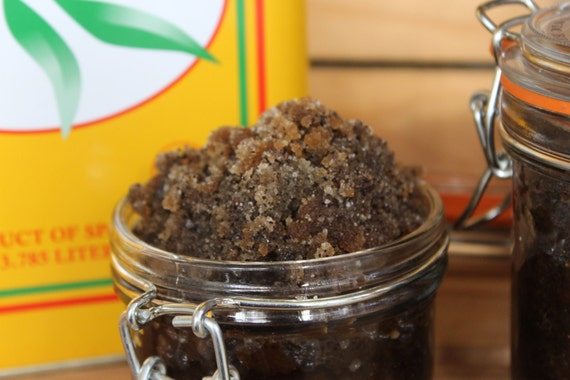 Organic Brown Sugar Coffee Scrub Lavender Rose Essential oil 5 & 9 ozs