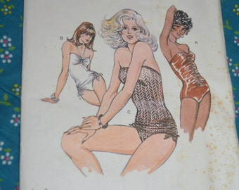 Kwik Sew 989 Misses Swimsuit Sewing Pattern - UNCUT - Size 6 8 10