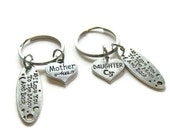 2 Mother And Daughter Keychains, I Love You To The Moon And Back Keychains, Mother And Daughter Jewelry, Mother And Daughter Keychains
