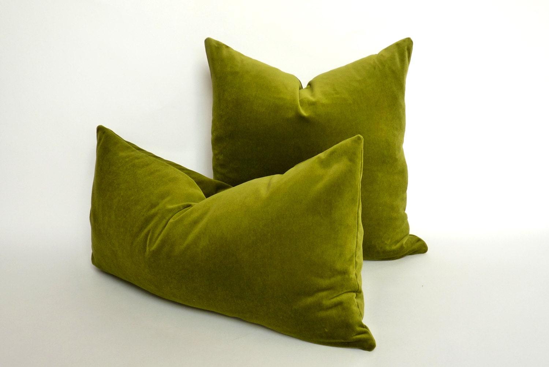 Kelly green velvet curtains - Olive Green Velvet Pillow Case Chartreuse Green Velvet Pillow Lime Green Velvet