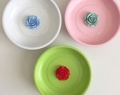Two toned Flower Pin Bowl - Made to Order - Free Shipping