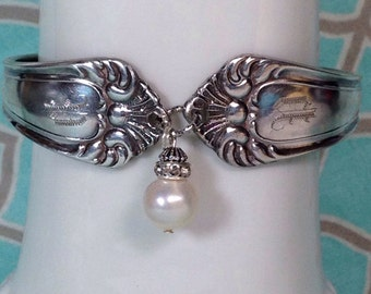 "Monogrammed Spoon Bracelet with letter ""P"""