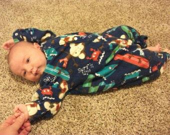 Baby fleece character pajamas, custom made PJs, one piece PJs, snap pajamas,  baby warm pajamas, baby pajamas,  baby snap pajamas, baby PJs,