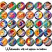 Colorful Sun and Moon Art Celestial  1.25 inch pinback buttons pins badges or magnets  Collectible Pins or Party Favors