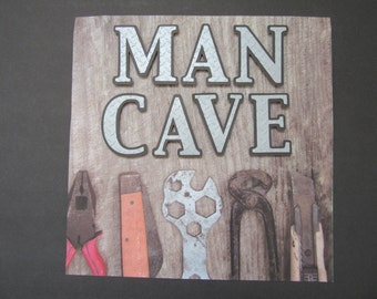 MAN CAVE Premade Scrapbook Page
