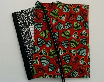 Heart Fabric Journal, Composition Notebook Cover