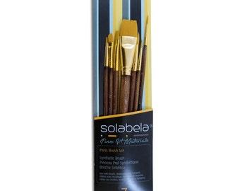 Solabela® Artist Brushes. Set of 10 - Jakarta Art Brush Set