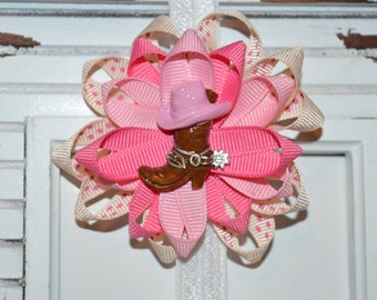 Pink Cowgirl Bow