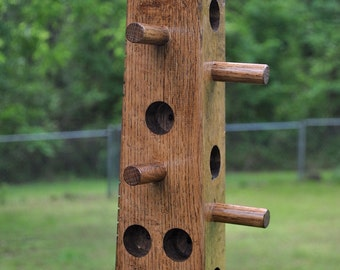 Suet bird feeder made from Red Oak