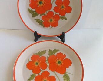Lenox Temperware Fire Flower Dinner Plates Set of 4
