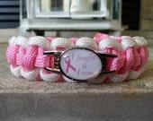 I Fought & I Won Breast Cancer Awareness Paracord Bracelet - FREE SHIPPING