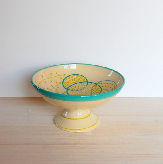 Items similar to Cake stand One of a kind bowl Ceramic ...