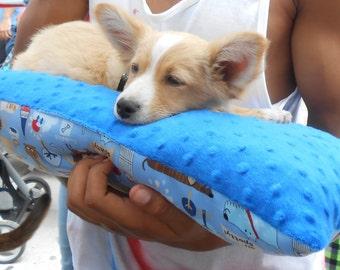 Blue Dog Snuggle Lumbar Pillow
