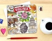 West Virginia notecard. Single or pack of 4.