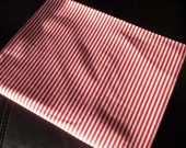 SALE 52% off Vintage cotton fabric with fine Red stripes from 1980s new condition