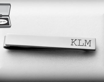 Personalized Tie Clip, Engraved Tie Clip, Silver Tie Clip, Custom Tie Bar, Personalized Wedding Favors, Groomsmen Gifts, Buy 6, Get 7th Free