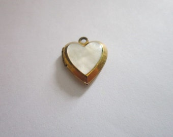 Vintage Gold Filled & Mother of pearl Photo Locket