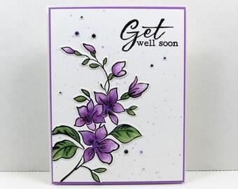 Get Well Soon Card, Greeting Card, Feel Better Soon Card, Handmade Card Blank Card