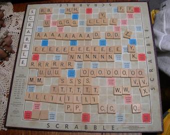 97 Scrabble Tiles Wooden Game Pieces