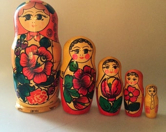 9inch Russian Nesting Stacking Doll
