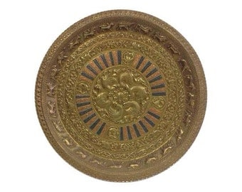 Tanjore Zodiac Copper/Brass Art Plate