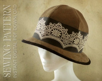 SEWING PATTERN - Sybil, 1920's Hat for Child or Adult