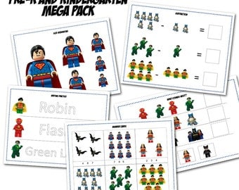 Lego Pre-K and Kindergarten mega pack, preschool printables