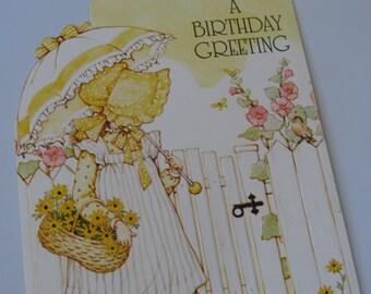 Vintage 1981~ Holly Hobbie ~ Birthday Greeting Card