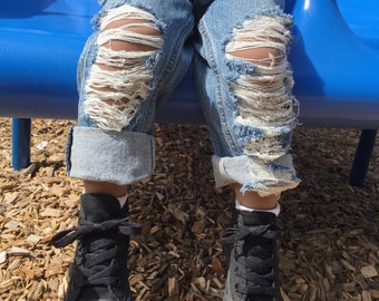Mini Destroyed Jeans/ Kids distressed jeans
