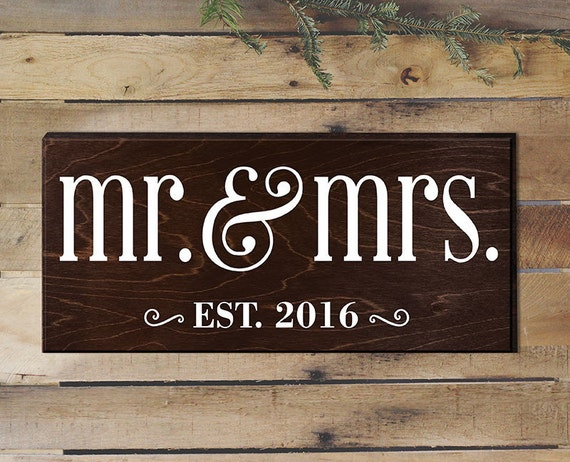 Mr And Mrs Gifts Wedding: Mr And Mrs Sign Wedding Gift Mr And Mrs Table Sign By