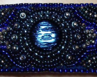 Abyss bead embroidered barrette