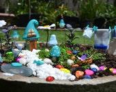 Small BLUE WASHING DAY Fairy Garden kit