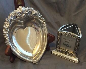 Vintage Godinger Trinket Bowl and Picture Frame