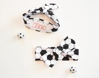 Soccer Headband - Personalized Headband - Soccer Team Headband - Toddler Headband - Baby Girl Soccer Headband - Custom Headband  - Sports