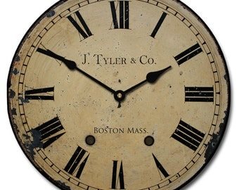 1910 English Longcase  Wall Clock
