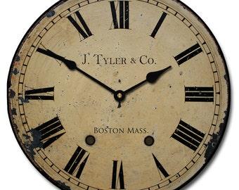 1910 English Longcase  Wall Clock