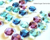 Frozen Cupcake Toppers, Frozen Cake Decor, Frozen Party, Candy Gems, Edible Diamonds, Bling Cake Toppers, 48 Edible Jewels, Ready to Ship