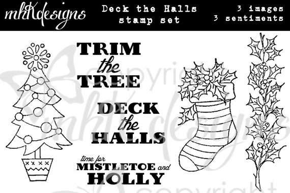 Deck the Halls Digital Stamp Set