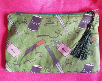 Supernatural inspired zipped pouch