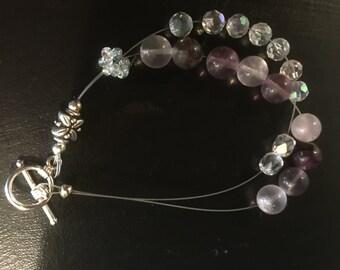 Glass Bead Row Counter Bracelet