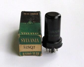 Sylvania 12SQ7GT vacuum tube for All American 5 tube table radios - new old stock - original box