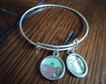 Vintage Disney ticket bangle bracelet