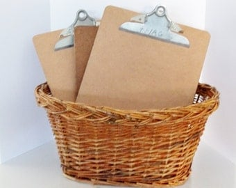 Vintage  Letter Sized Clip Boards  With Metal Clip