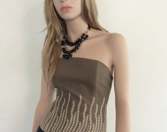 """Beautiful corsage """"Balmain Paris"""" in the early 1980s. Excellent condition!"""