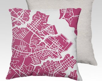 Annapolis Map Pillow Cover