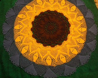 Crochet doily, tablecloth