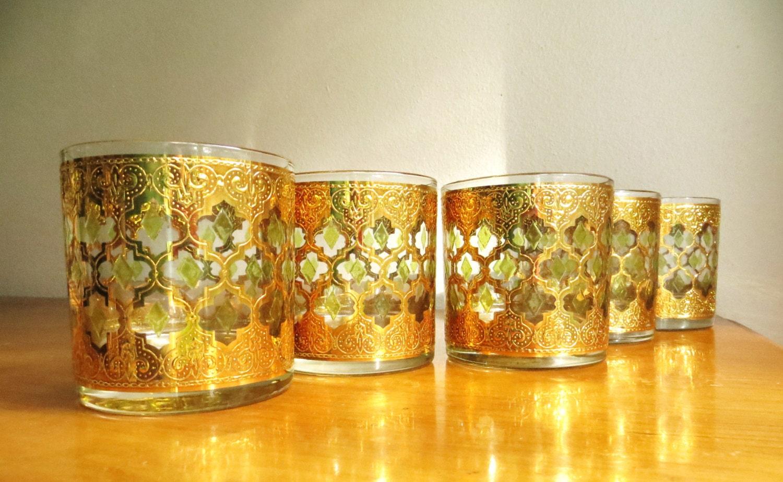 Vintage culver valencia glassware whiskey by - Vintage valencia ...