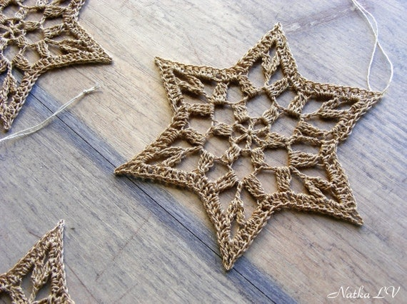 Christmas Stars Crochet Snowflakes Star Of David Set Of 6