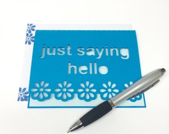 Just saying hello notecards